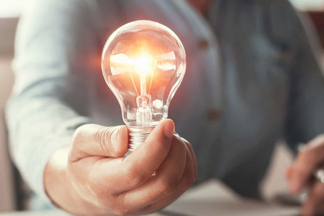 lightbulb representing ideas